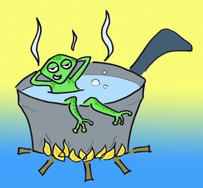 Pelajaran dari merebus katak